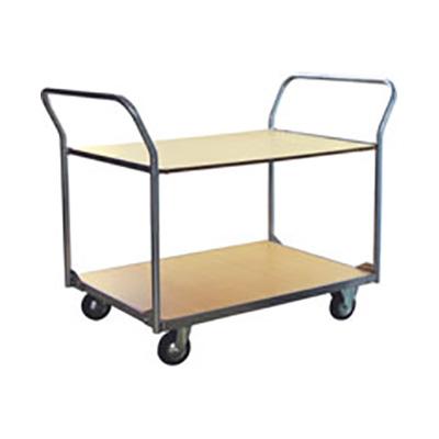 Carro metalico con 2 estantes