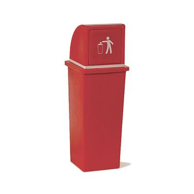 Papelero para residuos c/tapa rebatible