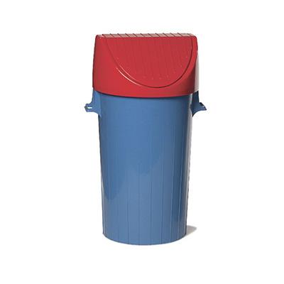 Recipiente para residuos con tapa y manijas